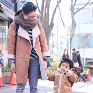 【撮影日:01/29,撮影場所:表参道】MAMIさん・FUMIちゃん