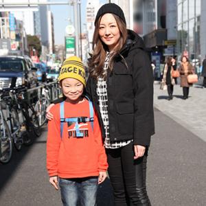 【撮影日:02/10,撮影場所:表参道】志保さん・颯太くん(7歳)
