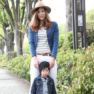【撮影日:04/25,撮影場所:表参道】あやかさん・れんくん(1歳)