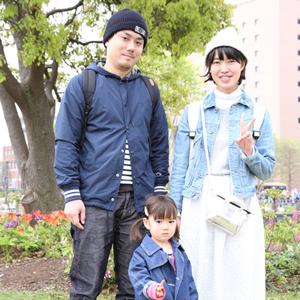 【撮影日:04/19,撮影場所:横浜】圭一さん・こず恵さん・楓ちゃん(2歳)