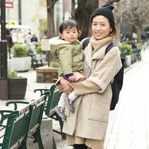 【撮影日:01/29,撮影場所:自由が丘】綾子さん.・優希ちゃん(1歳)・好きな親子スポット:家近くの公園