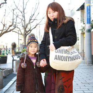 【撮影日:02/01,撮影場所:自由が丘】梨紗さん・ゆかちゃん(6歳)