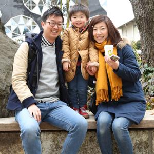 【撮影日:02/07,撮影場所:代官山】篤さん・美穂さん・禅大くん(3歳)