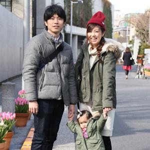 【撮影日:01/28,撮影場所:表参道】彩さん・紗奈ちゃん(1歳)