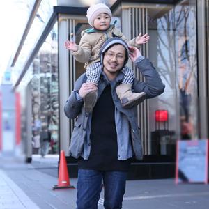 【撮影日:01/29,撮影場所:表参道】昌弘さん・りおちゃん
