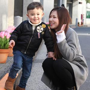 【撮影日:01/31,撮影場所:表参道】まみさん・らいきくん(3歳)
