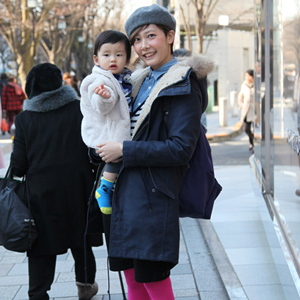 【撮影日:02/03,撮影場所:表参道】優さん・凜太郎くん(0歳)・好きな親子スポット:吉祥寺