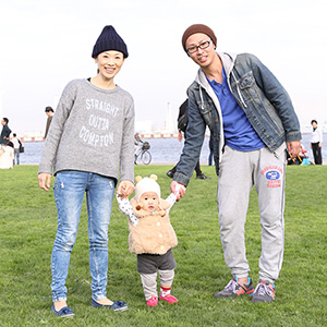 【撮影日:2015/11/21 撮影場所:横浜】パパ・ママ・アンちゃん(1歳)